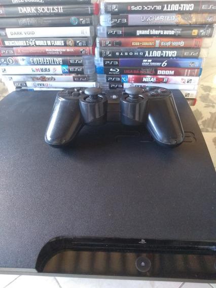 Playstation 3 , Controle Original, Gta 5 ,pes,fifa19 + Jogos