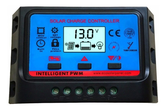 Controlador Pwm Carga Solar 30a Lcd Usb 12/24v Ajustavel