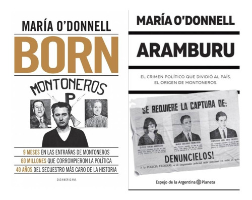 Pack Born + Aramburu - María O'donnell (2 Libros)