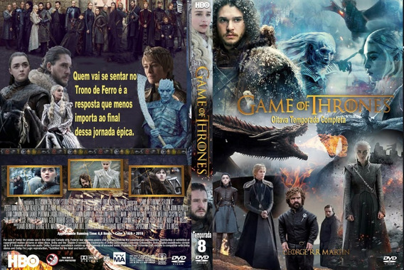Dvd Série Game Of Thrones 8° Temporada Completa - Frete Grát
