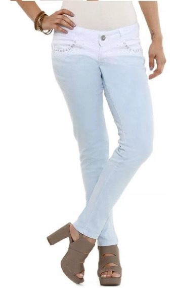 Calça Feminina Jeans Delavê Tachas Rf.b1! Nova