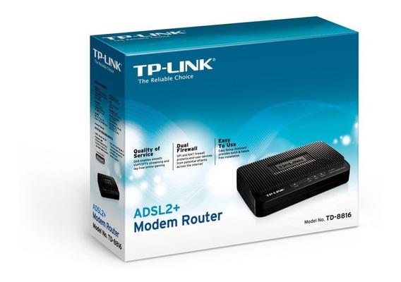 Modem Router Adsl2+tp-link Td-8616 Rj45 Cantv Tienda Fisica.