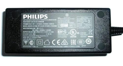 Imagen 1 de 4 de Cable De Alimentación Philips 240v-1.5a /  21 V Dc 3.09a