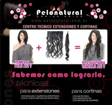 Colocacion De Cortinas Y Extensiones De Cabello Natural
