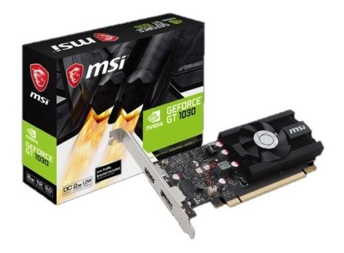 Imagen 1 de 4 de Tarjeta De Video 2gb Ddr4 Nvidia Geforce Gt 1030 Pci-e Hdmi