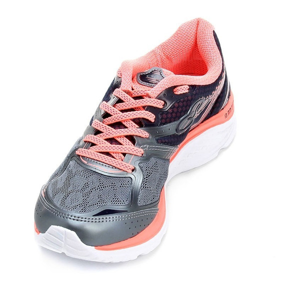 Tenis Olympikus Like Feminino Steel/ Coral Conforto E Beleza