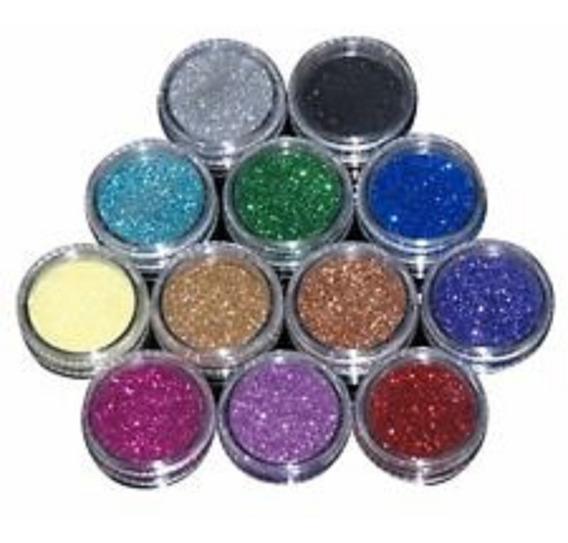 Set De Escarcha Cola Siren 12 Color Uñas Decoracion Manicure