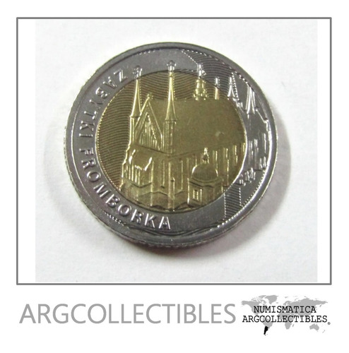 Moneda Polonia 2019 5 Zlotych Bimetalica Monumento Frombork