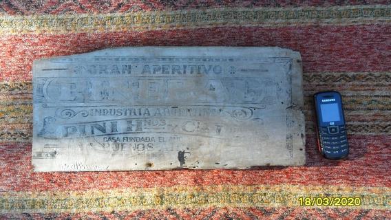 Parte Antigua Caja Madera Contenedor Aperitivo Pini Piñeral