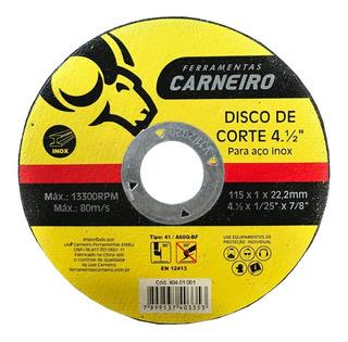 Disco De Corte Para Aço Inox 4.1/2pol 10 Unidades (4440)