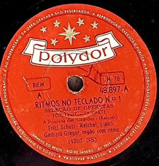 Disco Rotaçao 78 - Gerhard Gregor - Ritmos No Teclado N 01