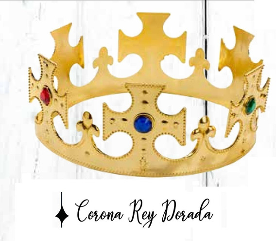 Corona Rey Dorada Cotillon 6 Unidades El Mejor Precio