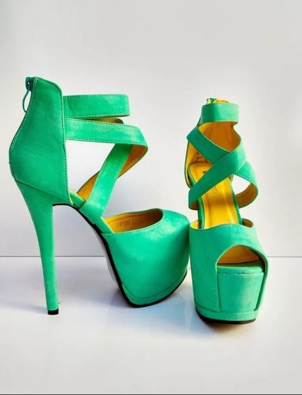 Sapato Luxo Plataforma Feminina Importada