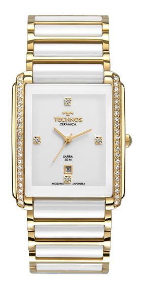 Relógio Technos Feminino Elegance Ceramic Safira Gn10ax/4b