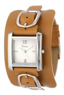 Reloj De Pulsera De Cuero Cuadrado Ha1573-3b De Freelook