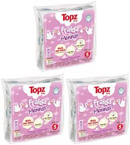 Kit C/ 3 Pct Fralda De Pano Estampa Menina Topz Baby Cremer