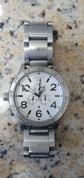 Relógio Nixon 5130 - Prata Fundo Branco - Original.