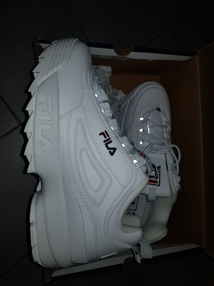 Zapatillas Fila Original Blancas Con Reflex