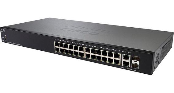 Switch Cisco 250 Series 24 10100 2sfp L2 Ger Sg250-26-k9-na