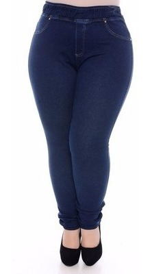 Kit 07 Calças Jeans Plus Size Feminina Cintura Alta C/ Lycra