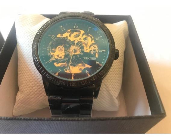Relógio Masculino Winner. Skeleton Mecânico Original Importa