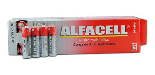 Pilha Comum Normal Aa Alfacell Alta Resistência 1.5v 60 Un