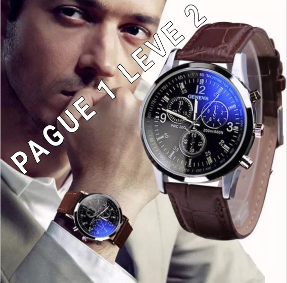 Relógio De Luxo Fashion Luxury Pague 1 Leve 2