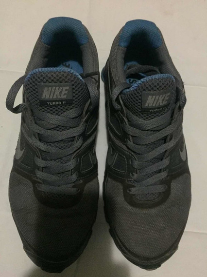 Tenis Nike Shox 36 Original Usado Turbo 11 Cinza E Azul Novinho