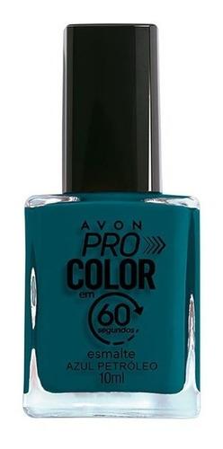 Imagem 1 de 1 de Avon - Pro Color 60 Segundos - Esmalte - Azul Petróleo