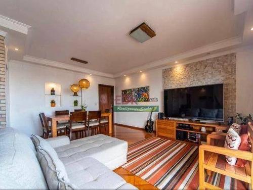 Imagem 1 de 6 de Apartamento Com 3 Dormitórios À Venda, 127 M² Por R$ 742.000 - Vila Marina - Santo André/sp - Ap8634