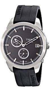 Reloj Tissot Tpara Hombre T Sport Dial Negro Correa De Cauch