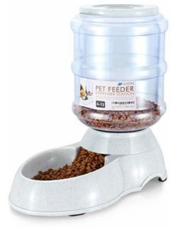 Flexzion Pet Waterer Feeder Food Water Dispenser