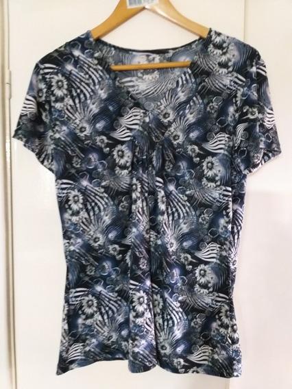 Remera Blusa Seda Fria Mujer Impecable L