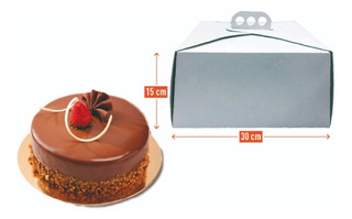Cajas Para Tortas Altas 30x30x15 Pack X 100 U Excelentes
