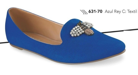 Zapatos Flats Cklass Azul Rey 631-70 Primavera Verano 2018