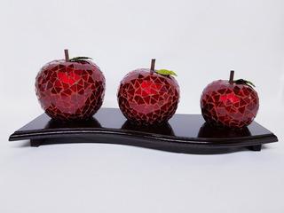 Manzanas En Vitromosaico Centro De Mesa Decorativas Adorno