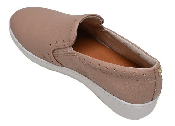 Tênis Feminino Casual Slip On Bottero Nude