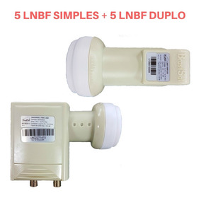 Kit De 5 Lnbf Simples + 5 Lnbf Duplo