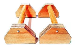 Parallettes Crossfit De Madeira Classico 02 Peças