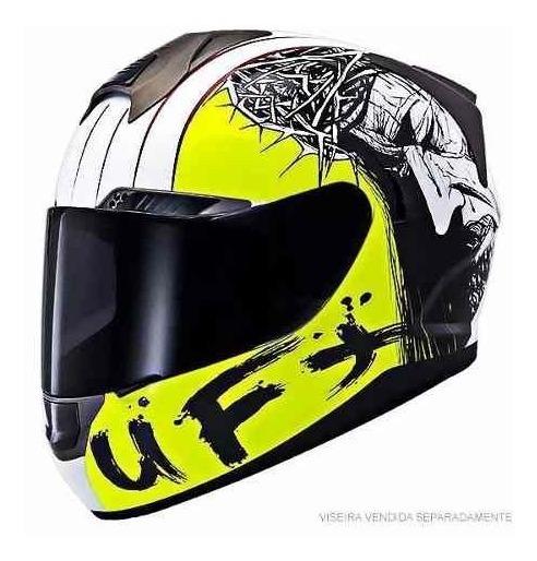 Capacetes Ufx Gospel Jesus Fechado Moto Protecao Oferta