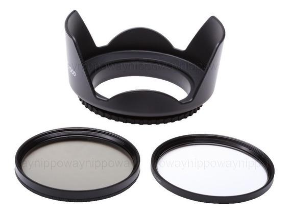 Filtro Lente Uv + Polarizador + Parasol 67mm Nikon D90 Canon