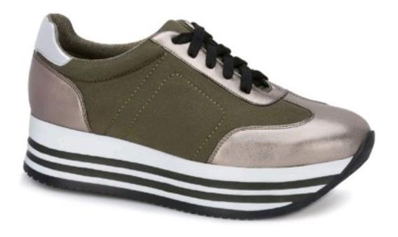 Sneaker Plataforma Bicolor