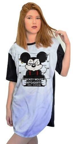 Blusa Mickey Camisa Moda Camiseta Feminina Manga Curta