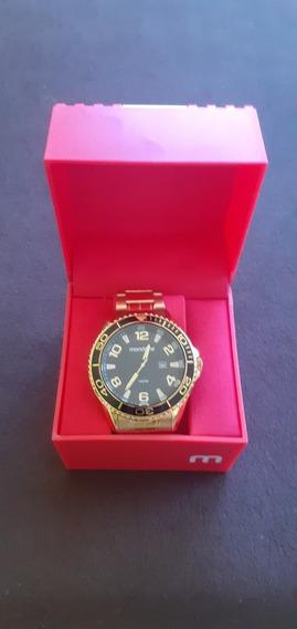 Relógio Mondaine Masculino Dourado Ouro Novo