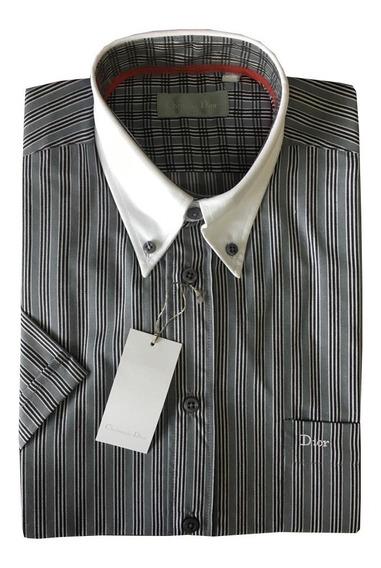 Camisa Sport Manga Corta Cuello Combinado Christian Dior