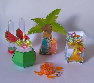 Kit Personalizados Para Festas Praia Cone Meia Bala 3d 150pç