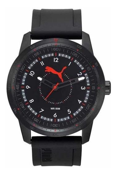 Reloj Puma Análogo Para Hombre, Correa Caucho Negro Wr50