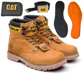 Bota Coturno Caterpillar Original Kit Completo +palmilha Gel