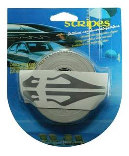 Rollo Franjas Deportivas Para Auto Gris Calcomania Sticker