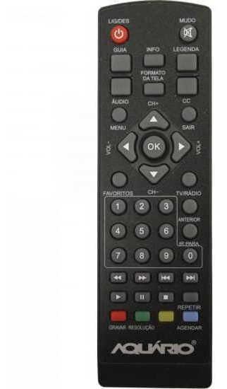 Controle Remoto Para Conversor Digital Dtv-5000 Preto Aquar